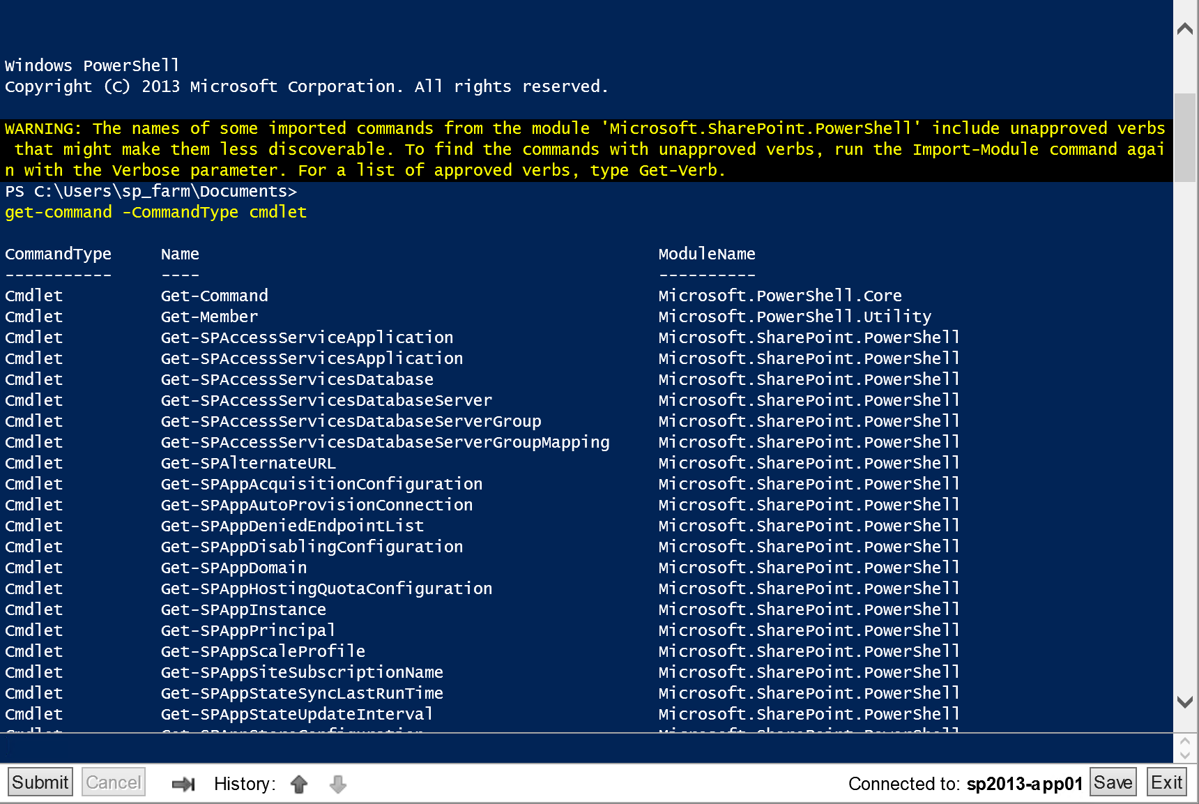 PowerShell Web Access to Manage SharePoint – Crawl, Walk